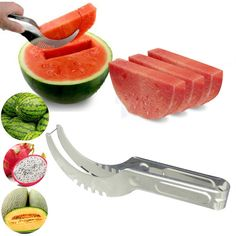 Watermelon cutter knife Cucumis melon Cutter Chopper Fruit Salad Cucumber Vegetable fruit slicers Kitchen cooking tools gadgets * See this great product.