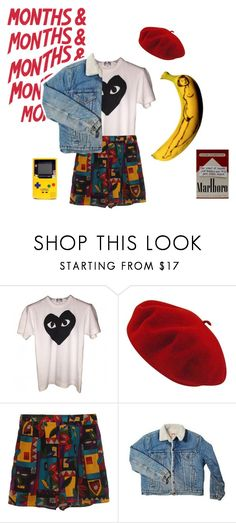 """""""never be like you"""" by thishazyheadofmine on Polyvore featuring Rocio, Comme des Garçons, Betmar and Levi's"""
