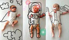 Superhéroe, astronauta, mago... dale un toque de phtoshop a las fotos de tu bebé y crea retratos tan chulos como estos