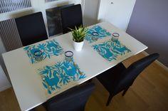 Set of 4 Embroidered placemats | Mexican Embroidered placemats | Hand Embroidered | Red placemats | Home & Living | Home Décor | Decorative Pillows | Aqua Blue Placemats | placemats | handmade placemats | animal placemats | turquoise placemats | embroidered placemat | home decor | table decorations | kitchen decoration | mexican placemats | square placemats | embroidered manta | placemats | mantelitos individuales | Mantelitos mesa azules | Mantelitos organicos @OtomiMexico…