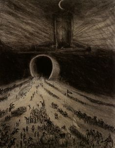 Alfred Kubin was an Austrian Symbolist or Expressionist artist, depending on your way of classifying him. Kubin, The Way to Hell, and Into the Unknown (below) When I … Arte Horror, Horror Art, Dark Fantasy, Fantasy Art, Art Sinistre, Alfred Kubin, Expressionist Artists, Expressionism, Psy Art