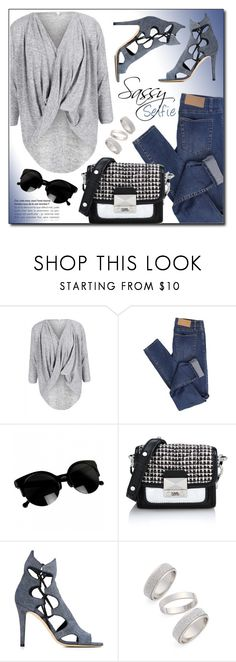 """Untitled #3655"" by monmondefou ❤ liked on Polyvore featuring Cheap Monday, Karl Lagerfeld, Jimmy Choo and Topshop"