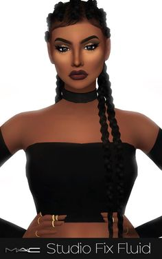 mac-cosimetics: MAC Studio Fix Fluid Foundations An… MAC Studio Fix Fluid Foundations von mac-cosime Sims 4 Mac, Sims 3, The Sims 4 Pc, Sims Four, Afro Hair Sims 4 Cc, Sims 4 Curly Hair, Curly Hair Styles, Ethnic Hairstyles, Afro Hairstyles
