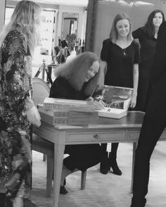 """Head over to """"FIDMCollege"""" on Snapchat to see @sabinaemritstylist cover the one and only #GraceCoddington at @londonfashionweek."""