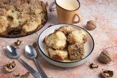 Hagyományos aranygaluska vaníliasodóval Recept képpel - Mindmegette.hu - Receptek Kenya, French Toast, Oatmeal, Muffin, Sweets, Snacks, Cookies, Breakfast, Recipes