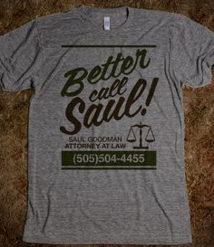 BETTER CALL SAUL!  @Peter Thomas Thomas Bentivegna @Mary Powers Powers Frances Cook