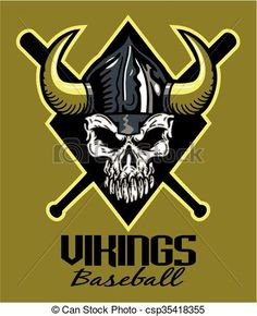 Vector - vikings baseball - stock illustration, royalty free illustrations, stock clip art icon, stock clipart icons, logo, line art, EPS picture, pictures, graphic, graphics, drawing, drawings, vector image, artwork, EPS vector art