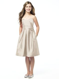 Champagne Dessy Dress