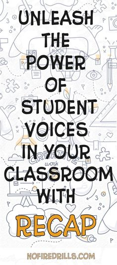 RECAP, the most fun I have had in my classroom all year! Recap is a free and easy to use service where students use their phone (or other device) to create a short video in response to the teacher…