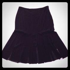 Host Pick Blumarine skirt Black silk streamer skirt Blumarine Skirts