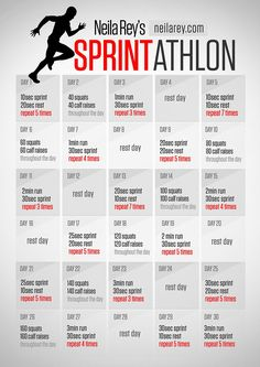 Sprintathlon / Running Program - Real Time - Diet, Exercise, Fitness, Finance You for Healthy articles ideas Rugby Workout, Soccer Workouts, Running Workouts, Fitness Workouts, Easy Workouts, Sprinting Workouts, Fitness Weightloss, Running Tips, Agility Workouts