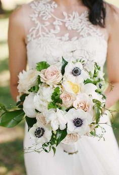 Anemone Wedding Bouquet.