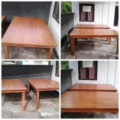 Natural wooden dinningbtable for your party or wedding dinner,  130cm in width, 200cm in length 80cm in height