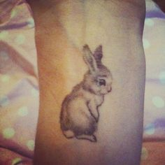 Bunny tattoo....i wont get one but so cute!