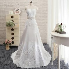 2016 New Fashion A Line Wedding Dresses Lace