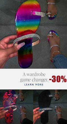 Bling Sandals, Cute Sandals, Shoes Sandals, Flats, Crazy Shoes, Me Too Shoes, Sneakers Fashion, Fashion Shoes, Nylons