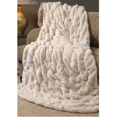 c5b574705d8b Ivory Mink Couture Faux Fur Throw
