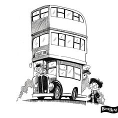 Harry and the Knight Bus Fan Art Pen and Ink Print Harry Potter Stencils, Harry Potter Quilt, Arte Do Harry Potter, Harry Potter Painting, Draco Harry Potter, Harry Potter Drawings, Harry Potter Pictures, Harry Potter Facts, Harry Potter Movies