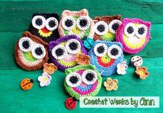 crochet owl coin purses    visit us:  https://www.facebook.com/CrochetWorksByAnn