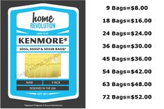 Vacuum Cleaner Bags 20618: Sears Kenmore Canister Type C Vacuum Bags For 5055, 50557 And 50558 Models -> BUY IT NOW ONLY: $52 on eBay!
