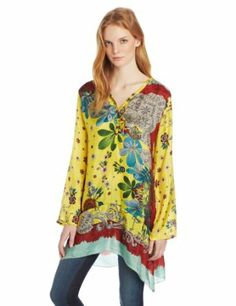 Not my norm, but I like this: Women's Botanical Lace Border Tunic