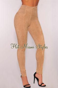 Mocha Faux Suede Pants Women's clothing hot miami styles hotmiamistyles hotmiamistyles.com