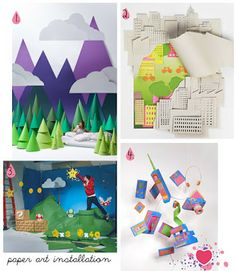 paper installation: lesson idea for students to create collaborative paper installations responding to the work of Darcy Prendergast