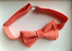 Coral Bow Tie Set for Men or Boys by MiaLorenBoutique on Etsy, $22.50