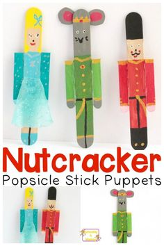 Love The Nutcracker ballet? You won't want to miss these adorable Nutcracker popsicle stick puppets for kids. One of the cutest nutcracker craft ideas!