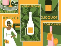 Veuve Clicquot Classic designed by Ryan Bosse. Connect with them on Dribbble; Campaign Posters, Polo Classic, Veuve Clicquot, California, Saint Charles, Show And Tell, Dame, Prints, Illustration Styles