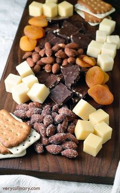 cheese, dried fruit & nuts.