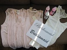 She made each of her bridesmaid a tank top and mailed it to them with a note asking them to be her bridesmaids, I think this is a very cute idea    Barrister Bride: DIY: Bridesmaid Invitations