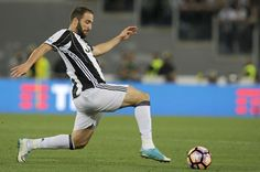 Gonzalo Higuain of FC Juventus during the TIM Cup Final match between SS Lazio and Juventus FC at Olimpico Stadium on May 17, 2017 in Rome, Italy.
