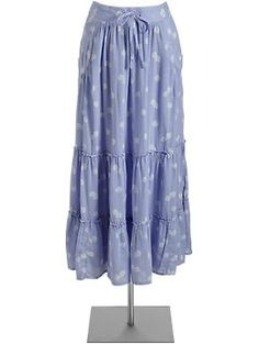 Just bought this. I can't help it. I'm obsessed with maxi skirts. Especially loose, flow-y ones with flowers and pretty colors. I'm just a hippie at heart. At least in the summer.