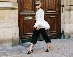 Get Olivia's classic look—down to the patent-leather heels.