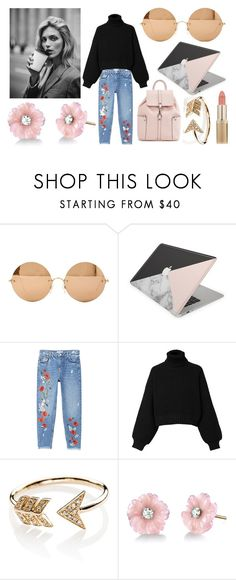 """""""coffee shop sterio type"""" by beth-york-robinson on Polyvore featuring Victoria Beckham, MANGO, Diesel, Anja, EF Collection, Irene Neuwirth and L'Oréal Paris"""