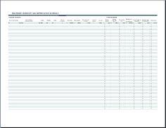 equipment inventory sheet