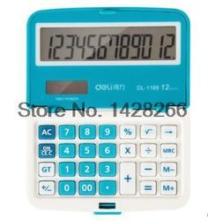[Visit to Buy] Deli 1109A Professional Office Electronics Mini Solar Calculator Candy Colors School Business 12 Digit Calculator Free Shipping #Advertisement
