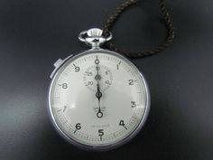 Vintage GALCO DECIMAL Stopwatch Pocket Watch - SWISS MADE - WORKING CONDITION