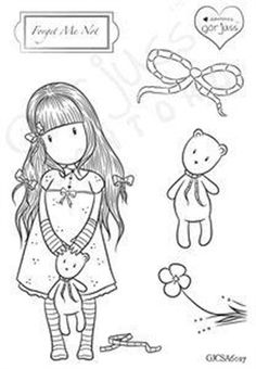 Gorjuss Clear Stamp Forget Me Not