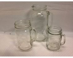 Vtg Golden Harvest Set 64oz Pitcher Handled Drinking Beverage Jars Set of 3 | eBay