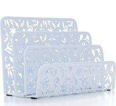 Design Ideas Vinea Letter Holder, White