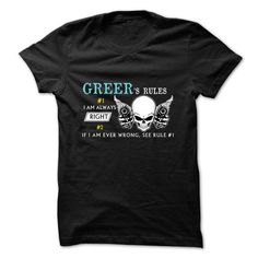 GREER RULE NUMBER 1 2017 DESIGN T-Shirts, Hoodies, Sweatshirts, Tee Shirts (22.99$ ==> Shopping Now!)