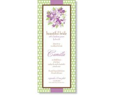 Vibrant Violet Bridal Shower Invitation