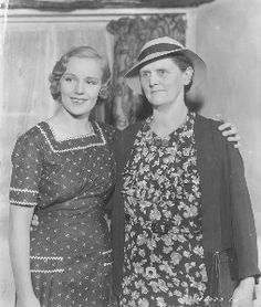Frances Farmer with her mother Paramount lot 1936