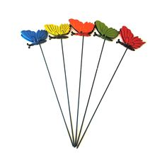 Lotus Collection 9 x Assorted Butterfly Stakes Hand Fan, Lotus, Butterfly, School, Collection, Schools, Bow Ties, Butterflies, Lotus Flowers