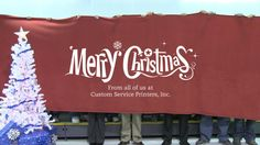 Interactive Christmas card created by Chris Reynolds from Custom Service Printers Inc. (USA).
