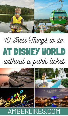 Find the 10 best things to do at Disney World besides the parks. Dining, fishing, shopping, mini golf, water parks, and more. #disneyworld #orlando #florida #disney #disneytrip All Disney Parks, Walt Disney World Orlando, Disney World Secrets, Disney World Florida, Disney World Planning, Disney World Tips And Tricks, Florida Travel, Travel Usa, Disney Vacation Club