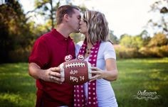 maternity football photography... or engagement! Super cute for the football couple!