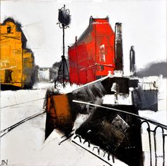 """Saatchi Online Artist Igor Nelubovich; Painting, """"Kalinkin bridge"""" #art"""